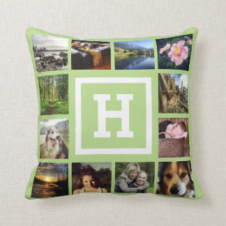 DIY 24 Photos Custom Instagram U Pick Color Throw Pillow