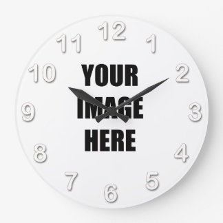 DIY, Add Your Own Image, Your Image here Wall Clock