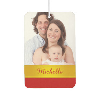 DIY - Add your own photo, name and ideas Car Air Freshener