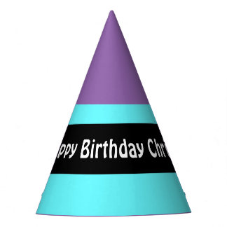 DIY - Add your own sign, photo, name & color Party Hat