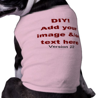 DIY Add Your Own Text and Image Custom V22 T-Shirt
