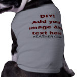 DIY Add Your Own Text and Image Custom V45C Doggie Tee