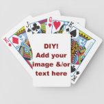 DIY Add Your Own Text and Image Custom Zazzle Item Card Decks