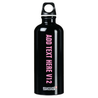 DIY Add Your Own Text Custom Drinkware V12 SIGG Traveler 0.6L Water Bottle
