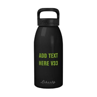 DIY Add Your Own Text Custom Drinkware V33 Drinking Bottles