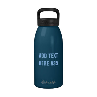 DIY Add Your Own Text Custom Drinkware V35 Water Bottle