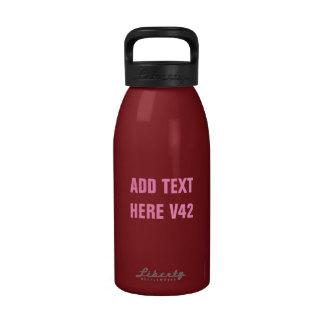 DIY Add Your Own Text Custom Drinkware V42 Reusable Water Bottles