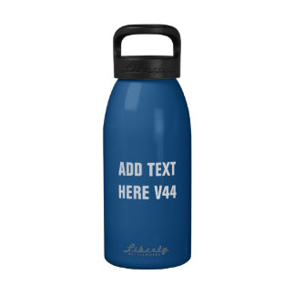 DIY Add Your Own Text Custom Drinkware V44 Reusable Water Bottle