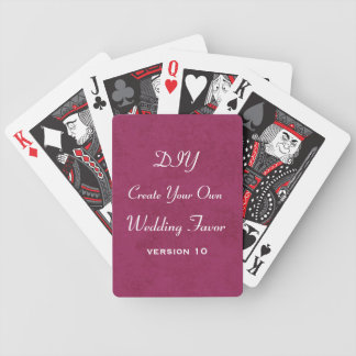 DIY Add Your Text Custom Wedding Party Favor v10 Bicycle Poker Cards