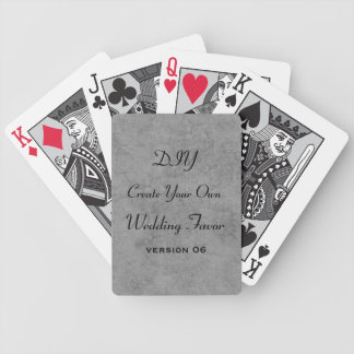DIY Add Your Text Custom Wedding Party Favor v6 Bicycle Playing Cards