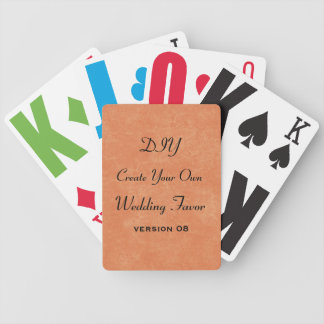 DIY Add Your Text Custom Wedding Party Favor v8 Bicycle Playing Cards