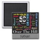 DIY Age | 50th Happy Birthday Magnet