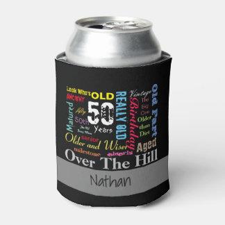 DIY Age   50th Happy Birthday   Milestone Can Cooler