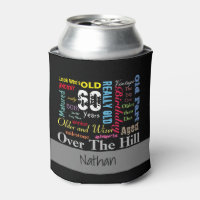 DIY Age | 60th Happy Birthday | Milestone Can Cooler