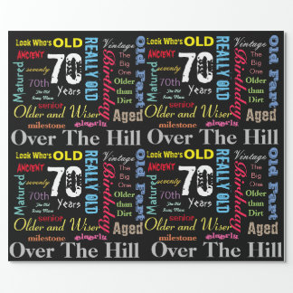 DIY Age | 70th Happy Birthday | Milestone Wrapping Paper