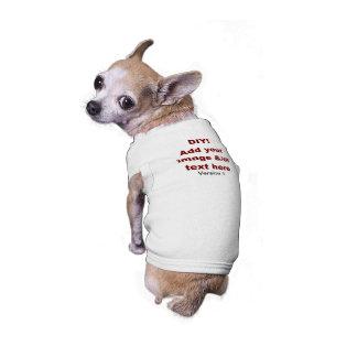 DIY añaden su propio personalizado V1 del texto y Camisa De Perro
