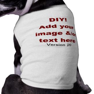 DIY añaden su propio personalizado V20 del texto y Camisa De Perrito