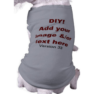 DIY añaden su propio personalizado V33 del texto y Playera Sin Mangas Para Perro