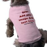 DIY añaden su propio personalizado V43 del texto y Playera Sin Mangas Para Perro