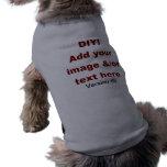 DIY añaden su propio personalizado V45 del texto y Ropa De Mascota