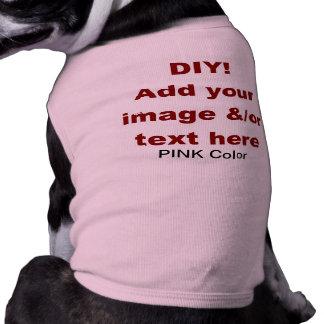 DIY añaden su propio personalizado V45D del texto Camisa De Mascota