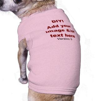 DIY añaden su propio personalizado V5 del texto y Playera Sin Mangas Para Perro