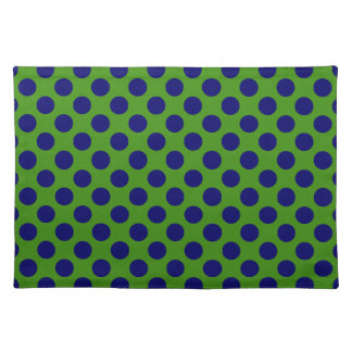 DIY Any Color/Dark Navy Blue Polka Dot Cloth Place Mat