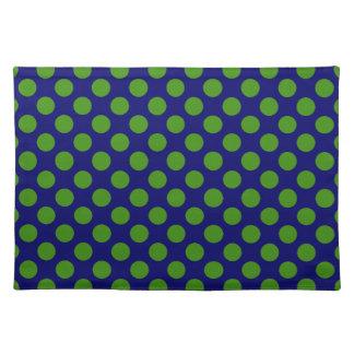 DIY Any Color/Green Polka Dot Cloth Place Mat