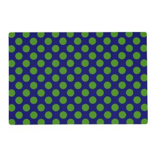 DIY Any Color/Green Polka Dot Laminated Place Mat