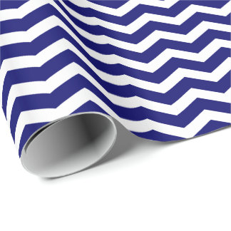 DIY Any Color/White Chevron Stripe Wrapping Paper