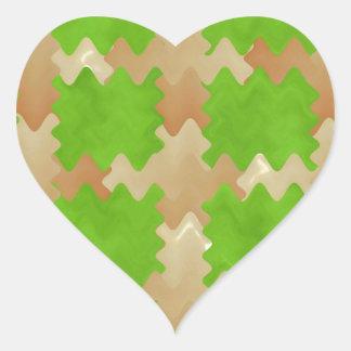 DIY Art Tools - ART101 Green Rich Surfaces Heart Sticker