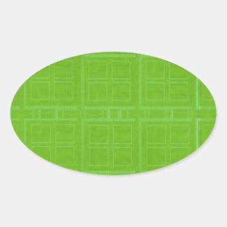 DIY Art Tools - ART101 Green Rich Surfaces Oval Sticker