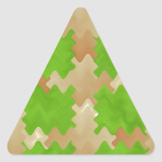 DIY Art Tools - ART101 Green Rich Surfaces Triangle Sticker