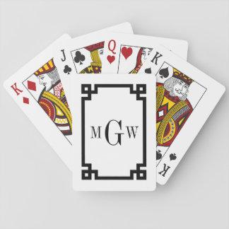 DIY Background Greek Key Black Framed #2 3I Playing Cards