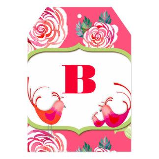 DIY Banner Alphabet Cards Cute Birds Modern Shower