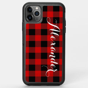 buffalo plaid Christmas,Red Plaid iPhone 12 Max Mini 11 Pro Max 8 7 6 Plus X Xs Max XR SE iPod Touch 7 6 Cover,Christmas Gift