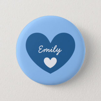 DIY Big Heart EMILY or ANY Name V05 Button