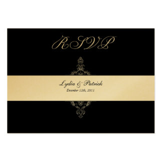 DIY Black and Gold RSVP Card Business Card