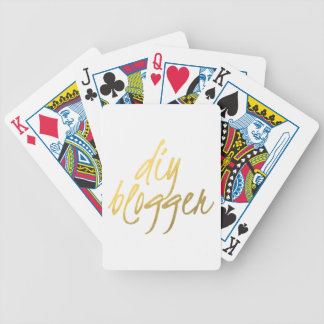 DIY Blogger - Gold Script Bicycle Playing Cards
