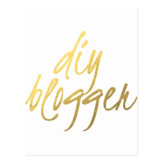 DIY Blogger - Gold Script Postcard