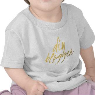 DIY Blogger - Gold Script Tshirt