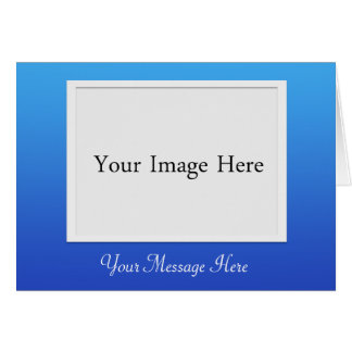 DIY Blue Photo Picture Frame Greeting Card