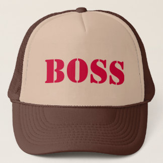 Diy BOSS U can change TEXT STYLE SIZE N COLOR Trucker Hat