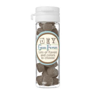 DIY - Brown - Chocolate Brownie Flavor Chewing Gum Favors