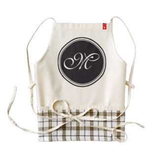 DIY Button - Customize your monogram & ideas Zazzle HEART Apron