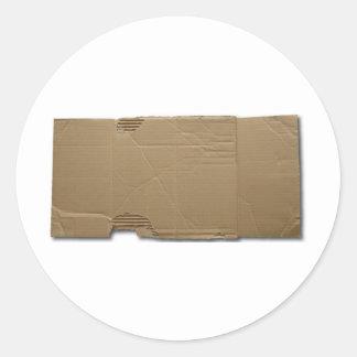 DIY cardboard sign Classic Round Sticker