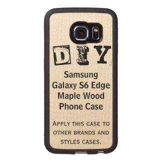DIY - Caso de madera del arce del borde de la Funda De Madera Para Samsung Galaxy S6 Edge