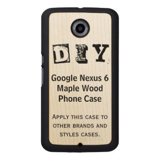 DIY - Caso de madera del arce del nexo 6 de Google Funda De Madera Para Nexus 6