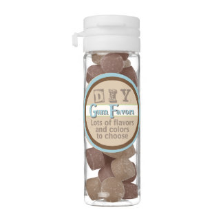 DIY - Chocolate & Penut Butter Flavor Chewing Gum Favors