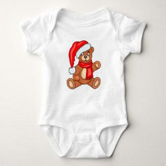 DIY Christmas Santa Bear Baby Bodysuit